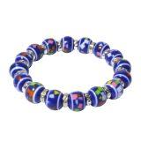 Mel's Bracelet with Blue Beads – Colon Cancer