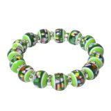 Mel's Bracelet with Emerald Beads – Liver Cancer